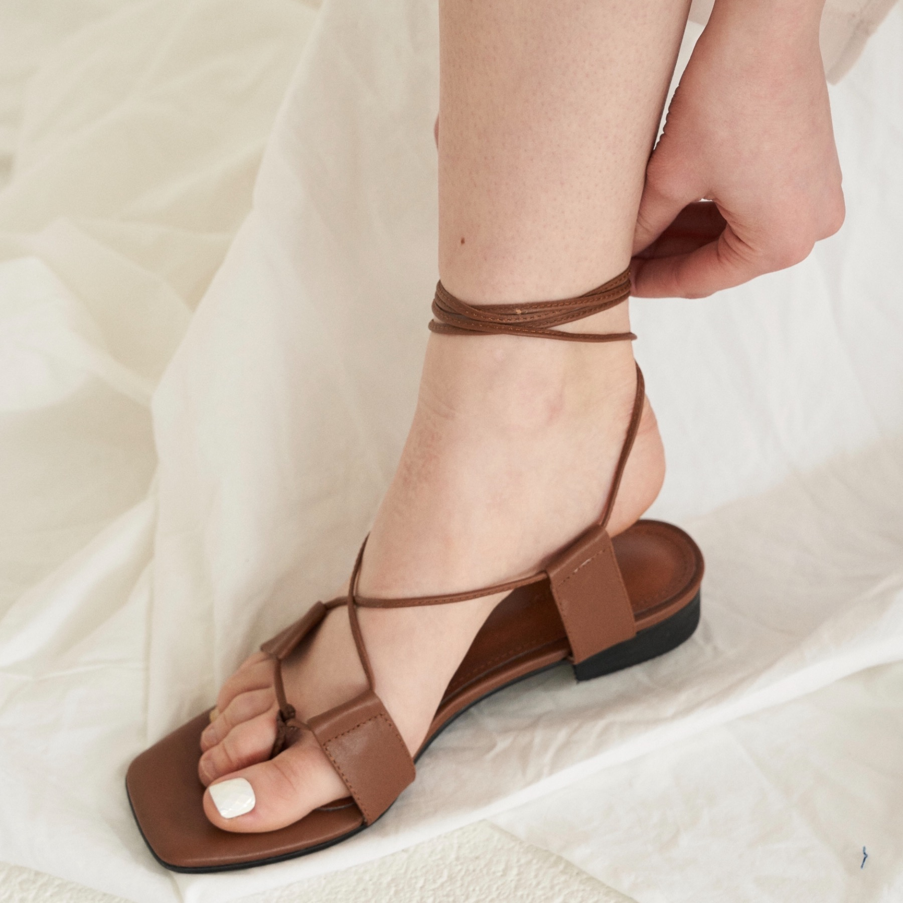 [윤승아 착화] city lace up sandal(4 color)