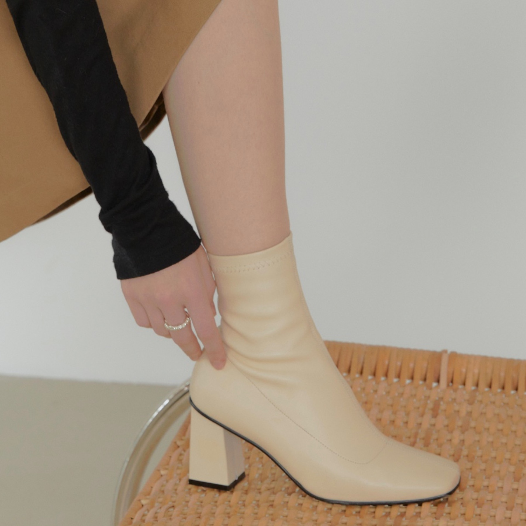 mari ankle boots(2 color)